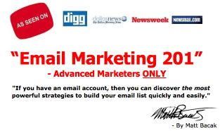 Matt Bacak's Email Marketing Newsletter, Promoting Tips